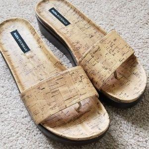 Cork looking sandals